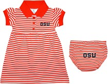 Oregon State Beavers Block OSU Striped Game Day Dress with Bloomer