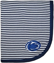 Penn State Nittany Lions Striped Baby Blanket