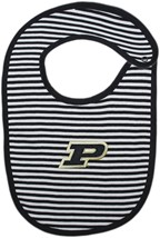 Purdue Boilermakers Striped Newborn Bib