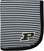 Purdue Boilermakers Striped Baby Blanket