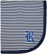 Rice Owls Striped Baby Blanket