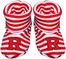 Rutgers Scarlet Knights Striped Booties