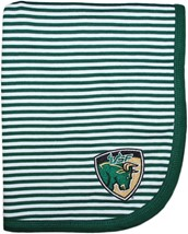 South Florida Bulls Shield Striped Baby Blanket