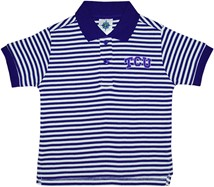 TCU Horned Frogs Striped Polo Shirt