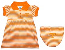 Tennessee Volunteers Striped Game Day Dress with Bloomer