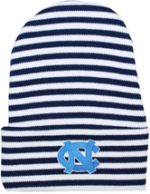 North Carolina Tar Heels Newborn Baby Striped Knit Cap