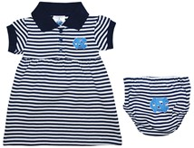 North Carolina Tar Heels Striped Game Day Dress with Bloomer