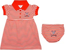 Virginia Cavaliers Striped Game Day Dress with Bloomer