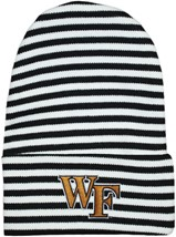 Wake Forest Demon Deacons Newborn Baby Striped Knit Cap