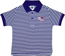 Western Carolina Catamounts Striped Polo Shirt
