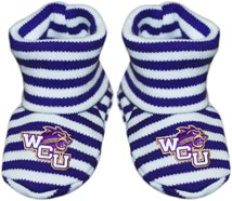 Western Carolina Catamounts Striped Booties
