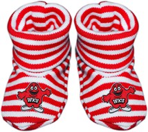 Western Kentucky Big Red Striped Booties