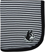 Wofford Terriers Striped Baby Blanket