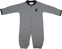 Wofford Terriers Striped Convertible Gown (Snaps into Romper)