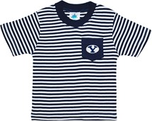 BYU Cougars Short Sleeve Striped Pocket Tee