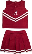 "Alabama Crimson Tide Script ""A"" 2 Piece Toddler Cheerleader Dress"