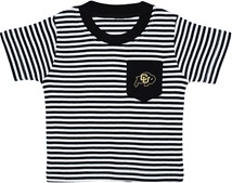 Colorado Buffaloes Short Sleeve Striped Pocket Tee