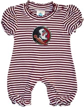 Florida State Seminoles Striped Puff Sleeve Romper