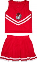 Georgia Bulldogs Head 2 Piece Toddler Cheerleader Dress