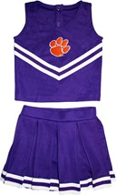 Clemson Tigers 2 Piece Toddler Cheerleader Dress