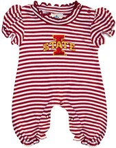 Iowa State Cyclones Striped Puff Sleeve Romper