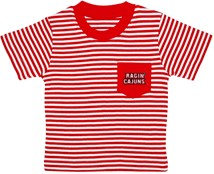 Louisiana-Lafayette Ragin Cajuns Short Sleeve Striped Pocket Tee