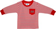 Louisiana-Lafayette Ragin Cajuns Long Sleeve Striped Pocket Tee