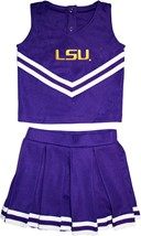 LSU Tigers Script 2 Piece Toddler Cheerleader Dress