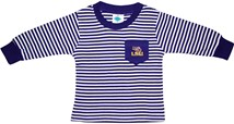 LSU Tigers Long Sleeve Striped Pocket Tee